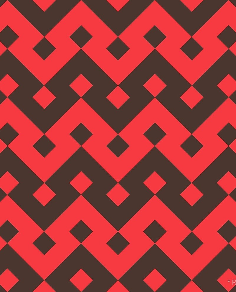 Geometric Pattern: Heavy Loop Diamond / Red Wolf