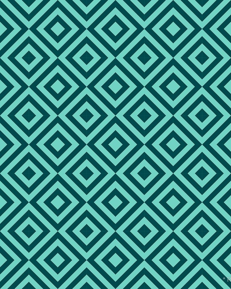 Geometric Pattern: Diamond Strobe / Red Wolf