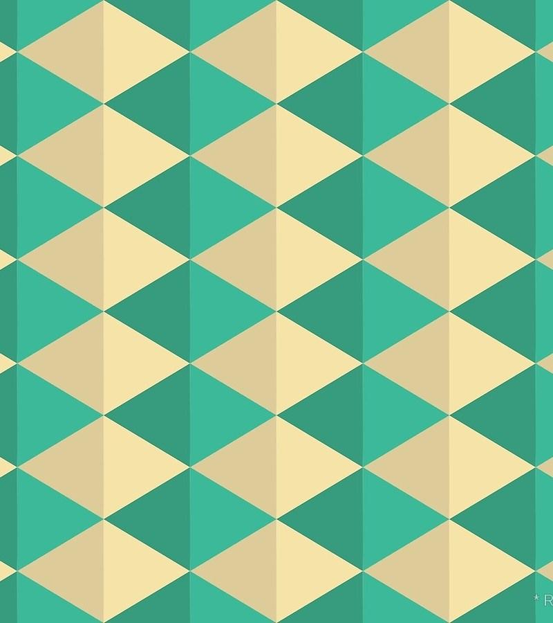 Geometric Pattern: Split Diamond / Red Wolf