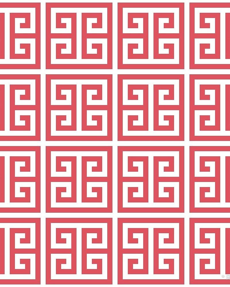 Geometric Pattern: Key Bridge / Red Wolf