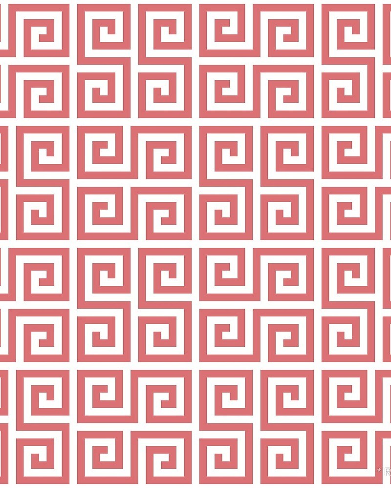 Geometric Pattern: Key Serpentine / Red Wolf
