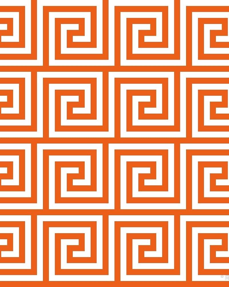 Geometric Pattern: Key Spiral / Red Wolf