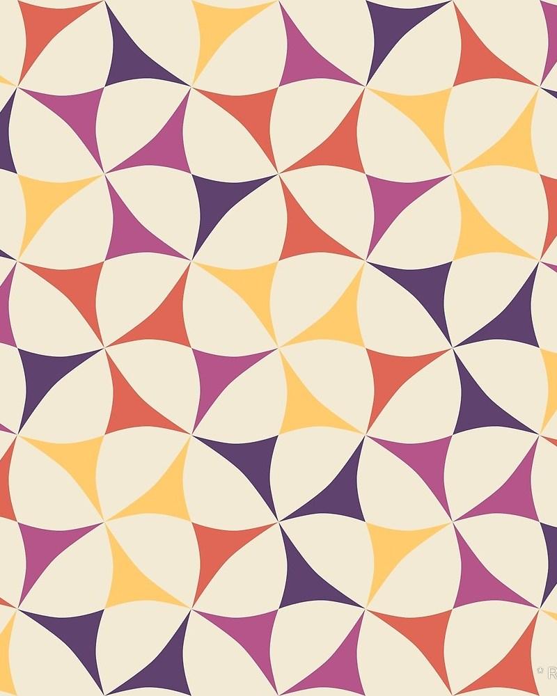 Geometric Pattern: Windmill / Red Wolf