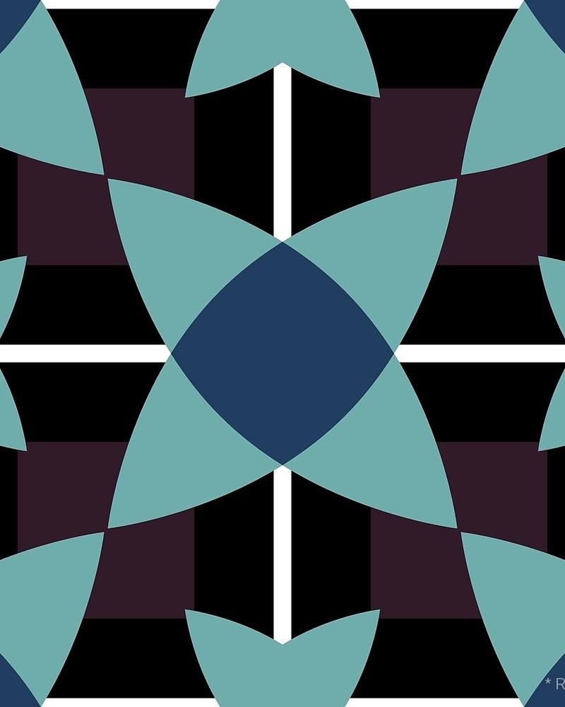 Geometric Pattern: Flower Weave / Red Wolf
