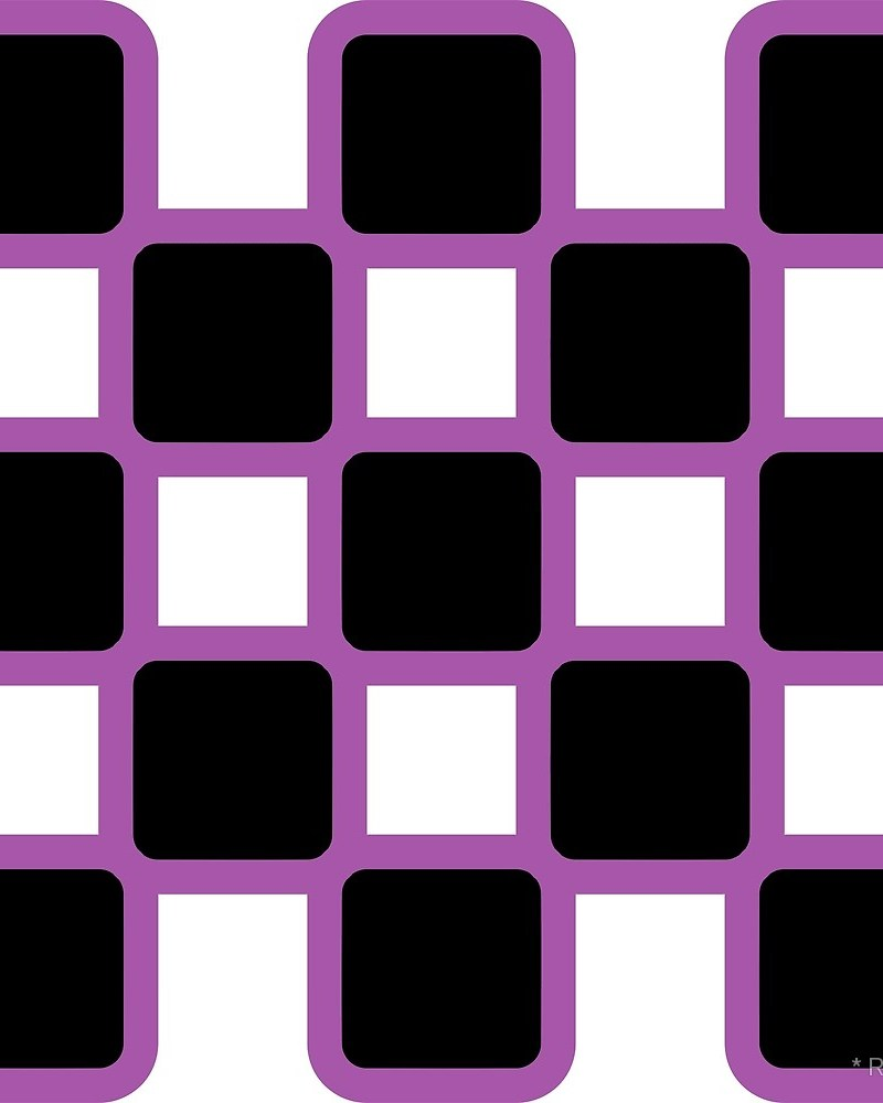 Geometric Pattern: Rounded Weave: Colour/Black