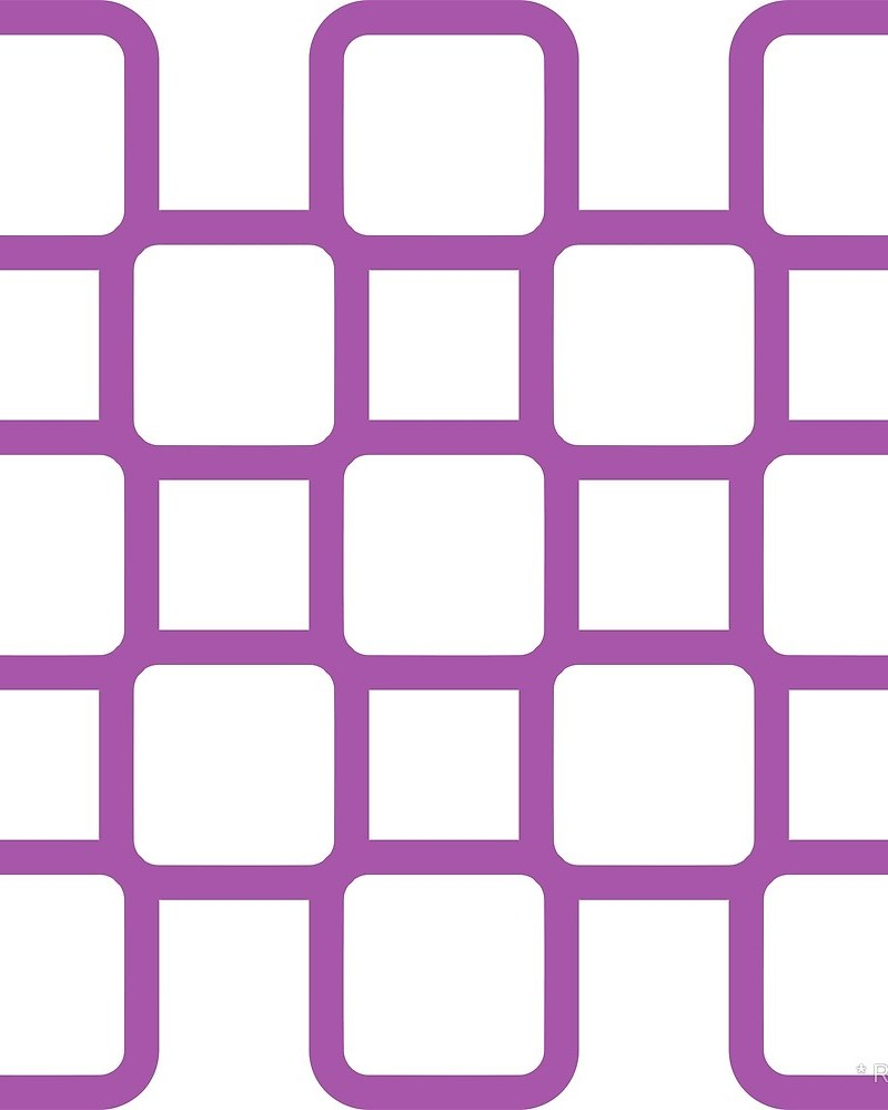 Geometric Pattern: Rounded Weave: Colour/White