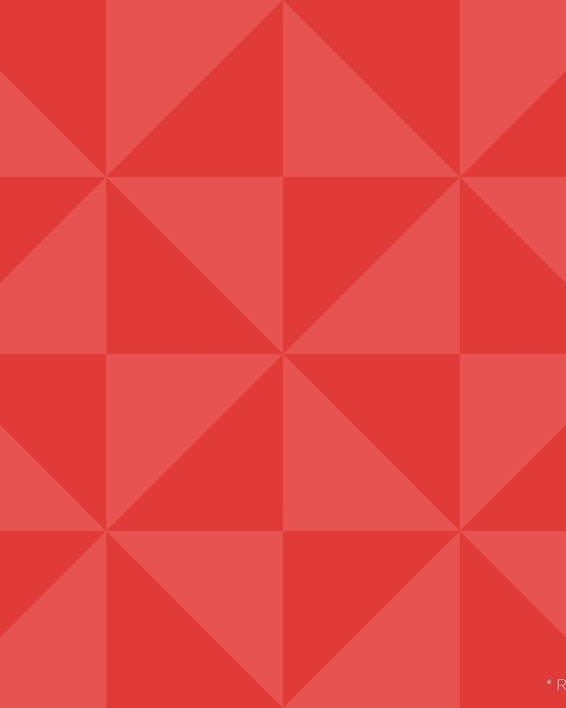 Geometric Pattern: Square Triangle: Dark Colour / Red Wolf