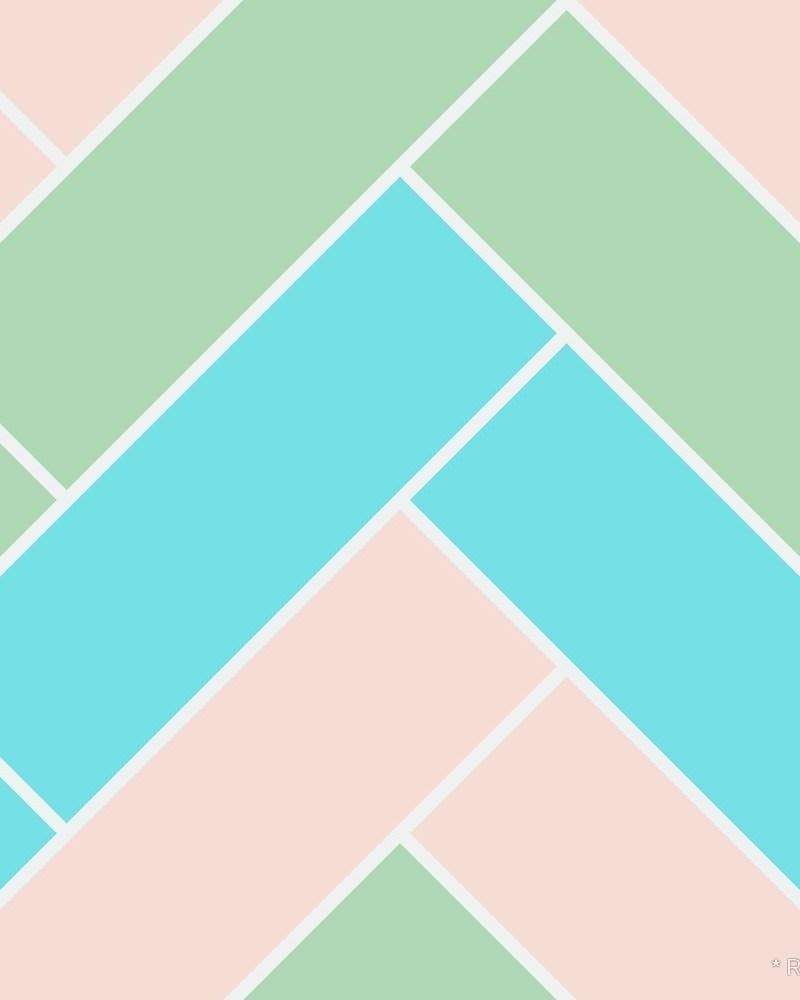 Geometric Pattern: Herringbone: Seasons / Red Wolf