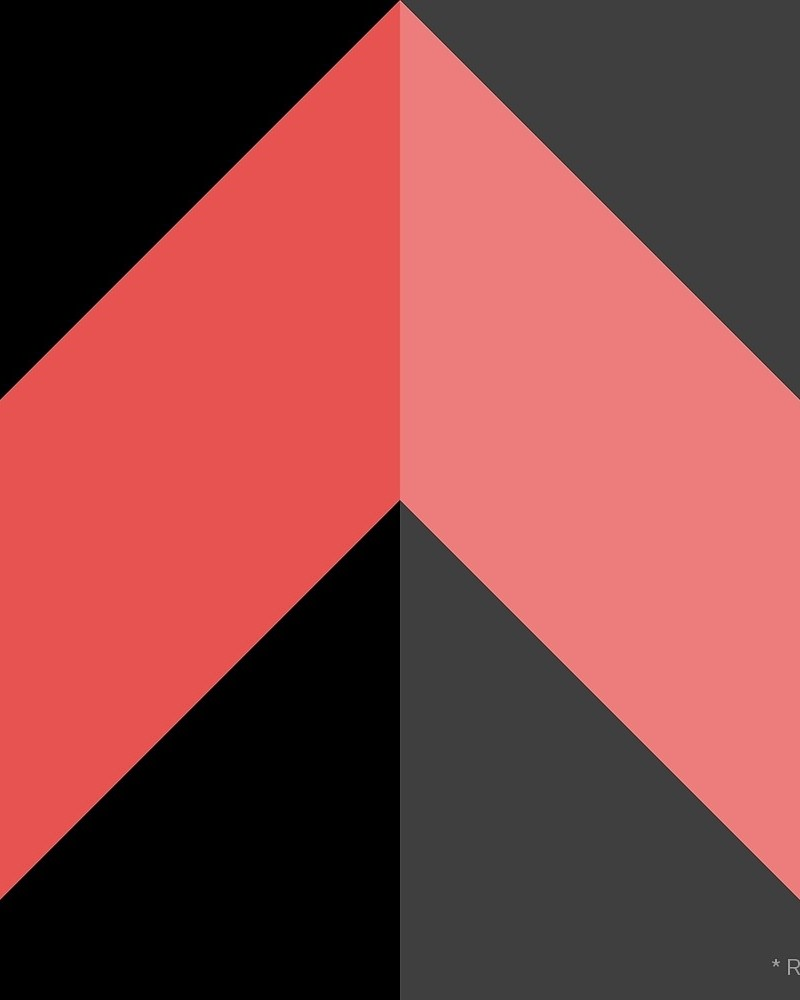 Geometric Pattern: Chevron: Dark / Red Wolf