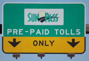 rental car transponders: SunPass sign