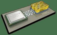 Hybrid Memory Cube, conectat la un microprocesor