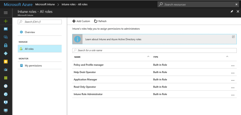 Role Based Access Control (RBAC) in Intune