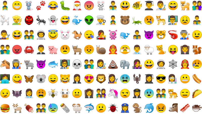 New Emojis in Android 8.0 Oreo