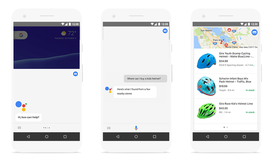 Local inventory on Google Assistant