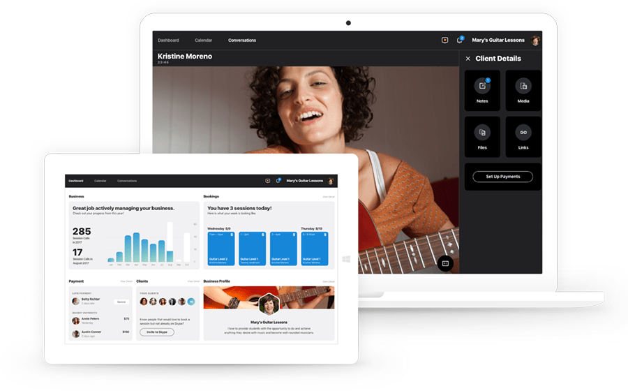 Skype Professional Account Desktop Client Preview Hero