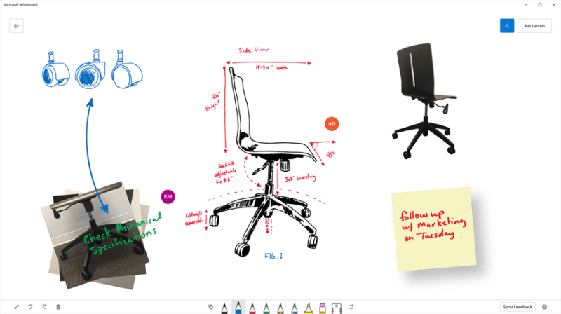 Microsoft Whiteboard Preview app