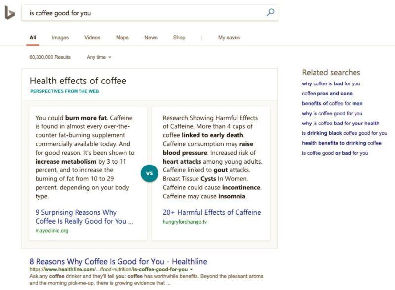 Bing Intelligent answers