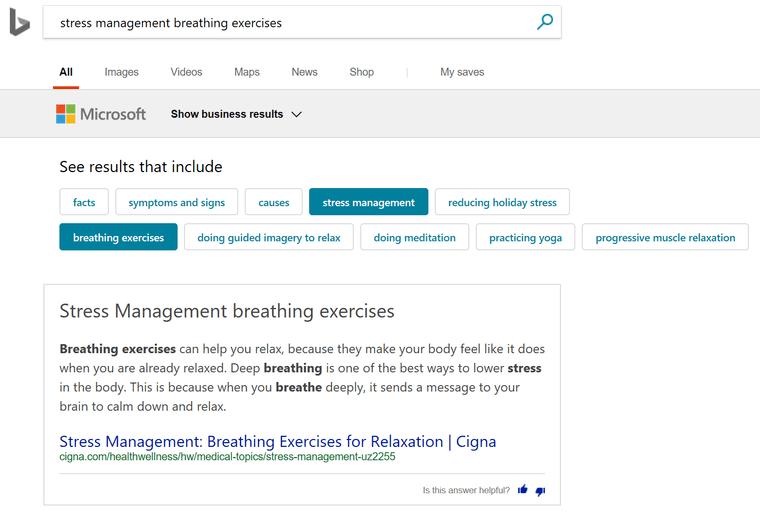 Bing conversational search