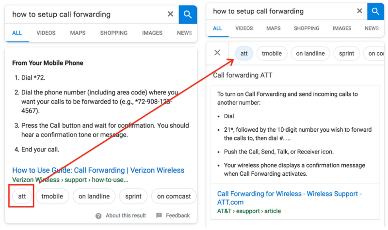 more than one featured snippet in google search results