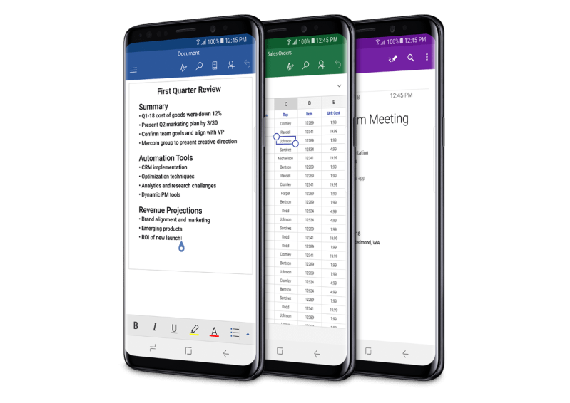 Samsung Galaxy S9 - Run Microsoft Apps