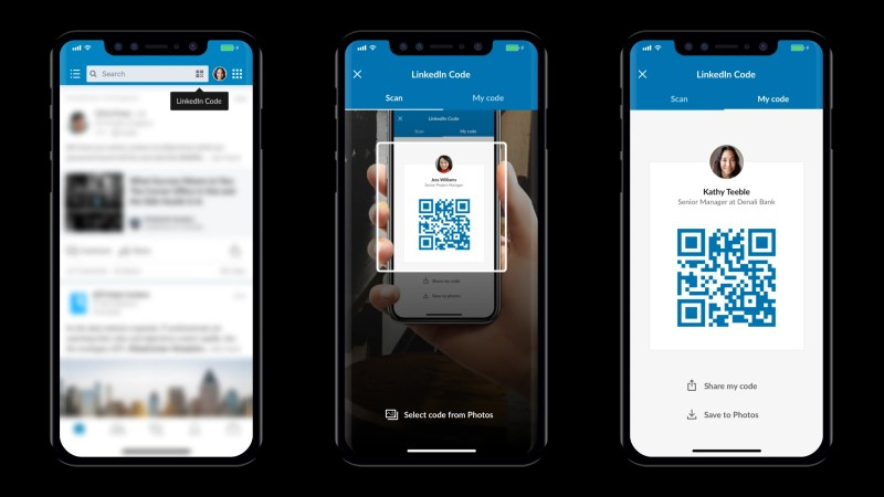 LinkedInQR Code on iOS and Android