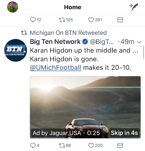 Twitter In-Stream Video Ad