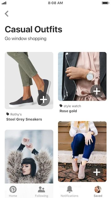 Pinterest Personalized Shopping Recommendations Save to Pin Board