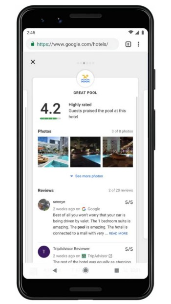Google Hotels Highlights Expanded Page