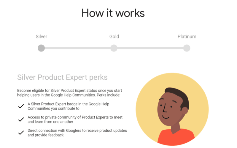 Google Product Experts Silver Perks