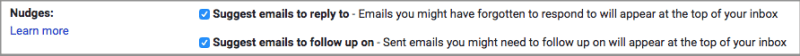 Nudging notification in new Gmail