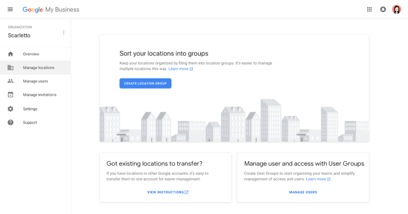 New Google My Business Agency Dashboard