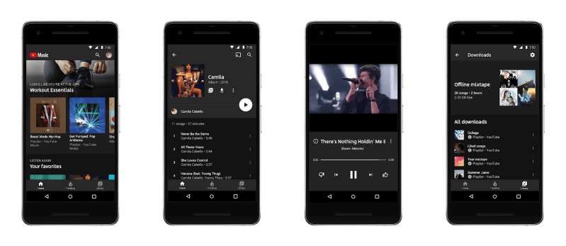 YouTube Music Streaming Mobile App