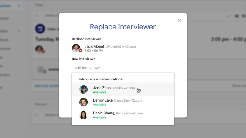 Google AI-poered Hire Replace Interviewer