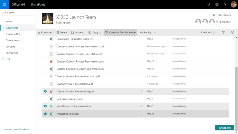 Adobe Document Cloud integrates PDF services to Office 365