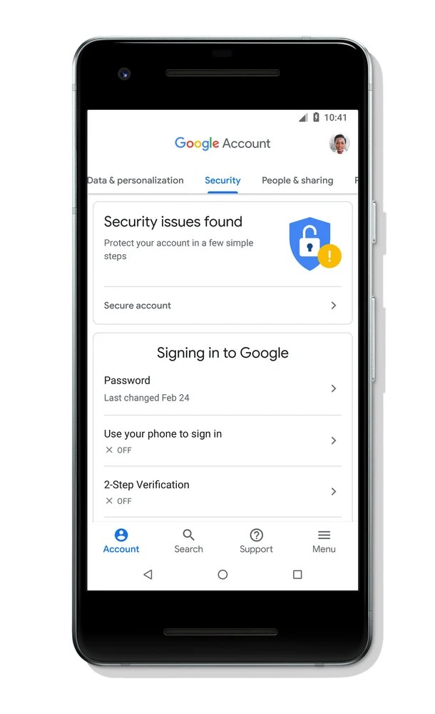 Google Account Security Issues Notification