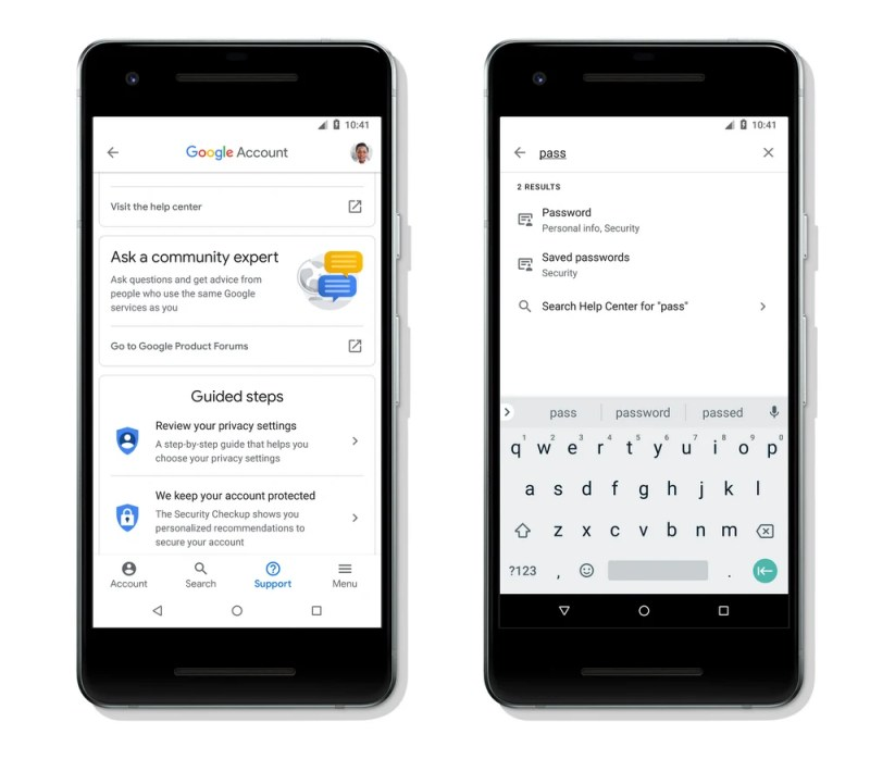 Google Account Search and Community Help