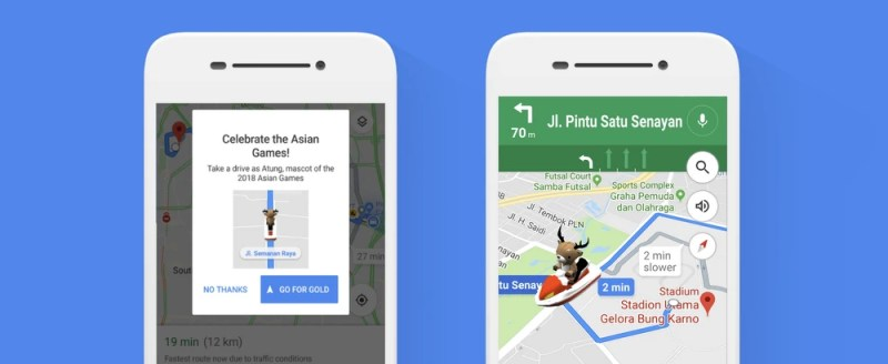 2018 Asian Games Atung Mascot on Google Maps