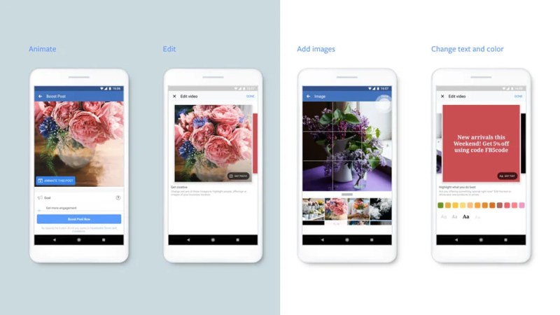 Facebook Mobile-first video ads creation tool flow