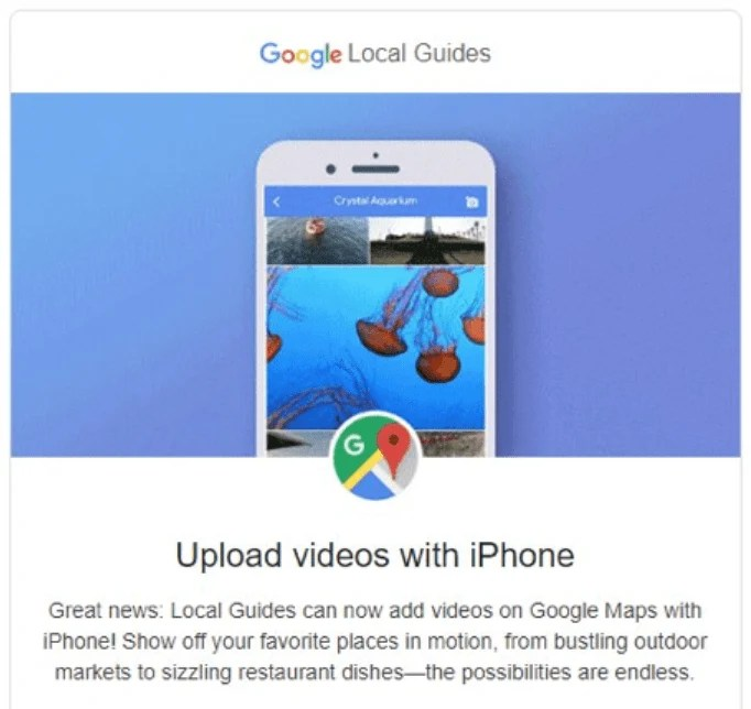 Google Local Guides Upload Videos from iPhone to Google Maps