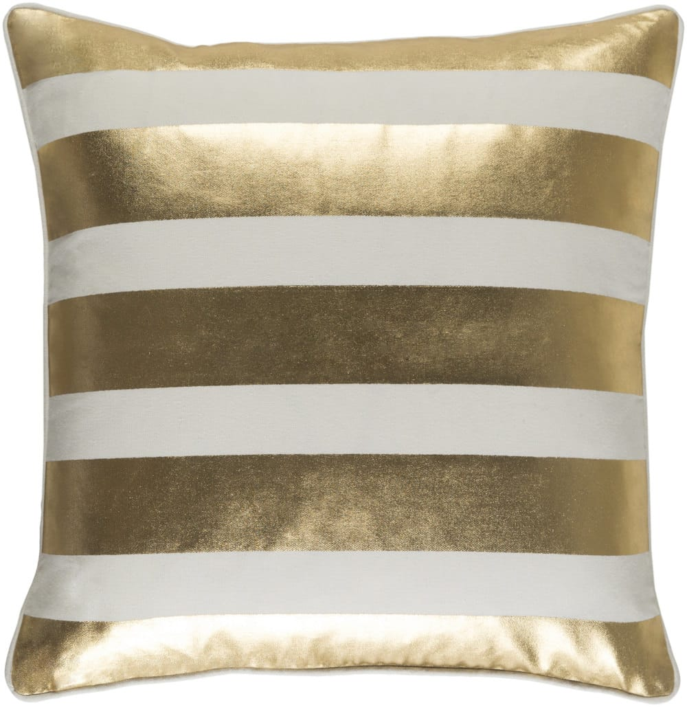 purchase metallic gold pillows up to