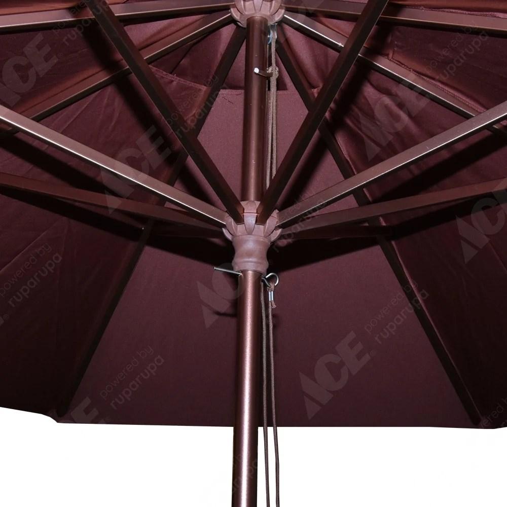 aplikator baja ringan nipa kota makassar sulawesi selatan jual payung taman 3 5 mtr ar 002 r cokelat tua original ace