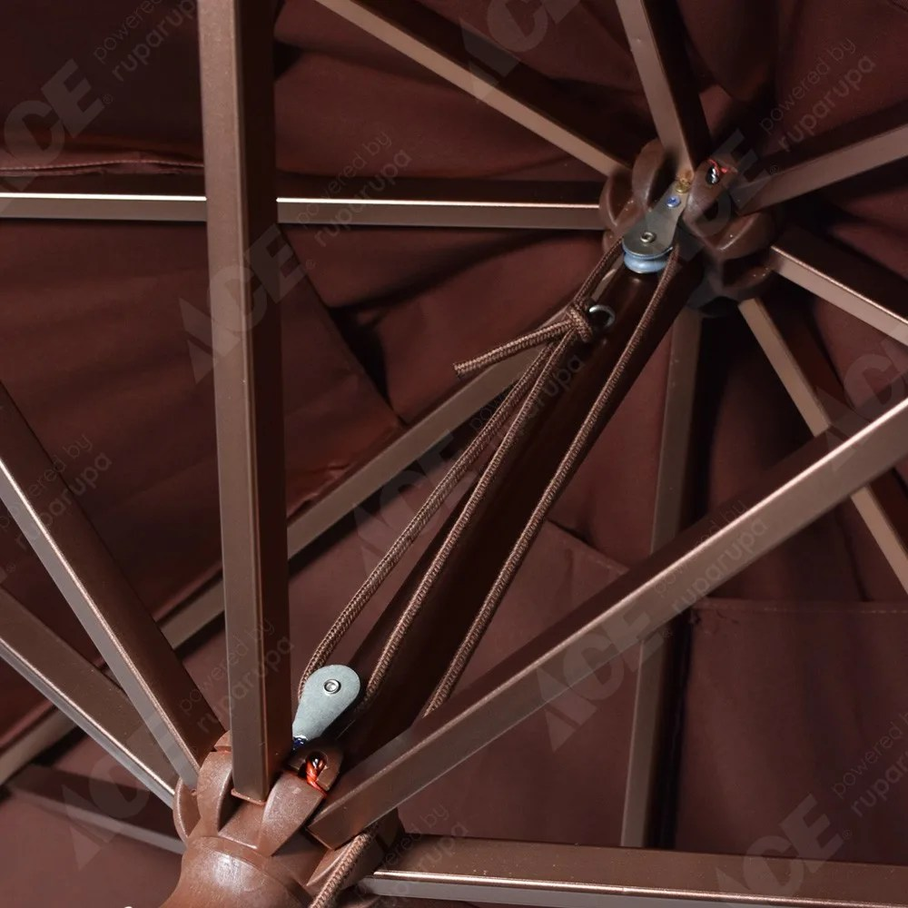 aplikator baja ringan nipa kota makassar sulawesi selatan jual payung taman alumunium 3 m cokelat tua original ace