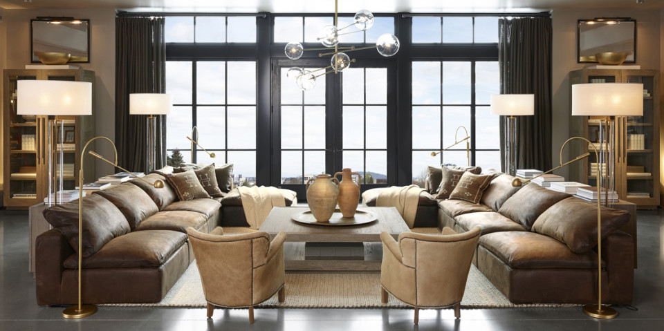 restoration hardware living room apartment therapy office opens four floors of home decor eye candy