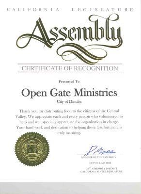 certificate from Assm. Devin Mathis