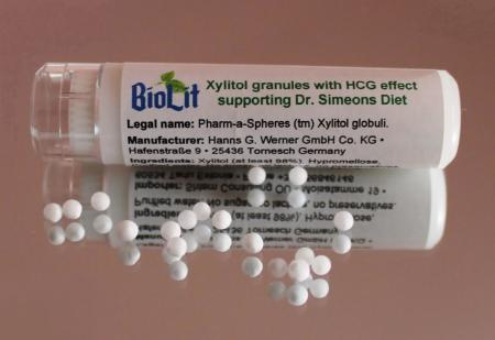 Biolit - Xylitol pellets with HCG effect supporting Dr. Simeons Diet