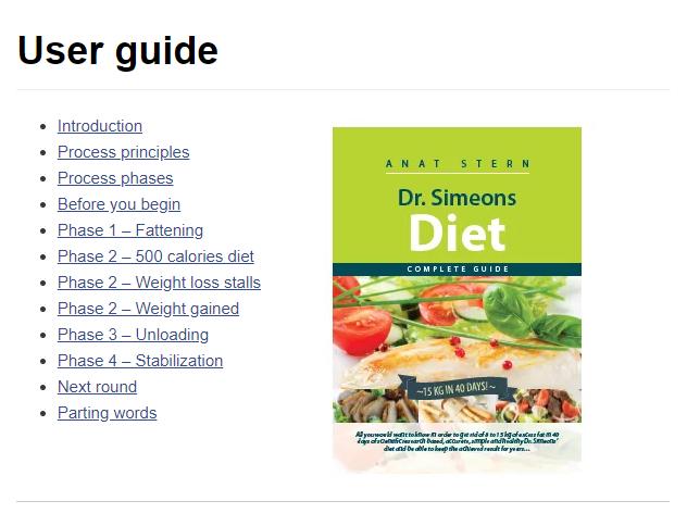 Dr Simeons HCG Diet UK - User Gide