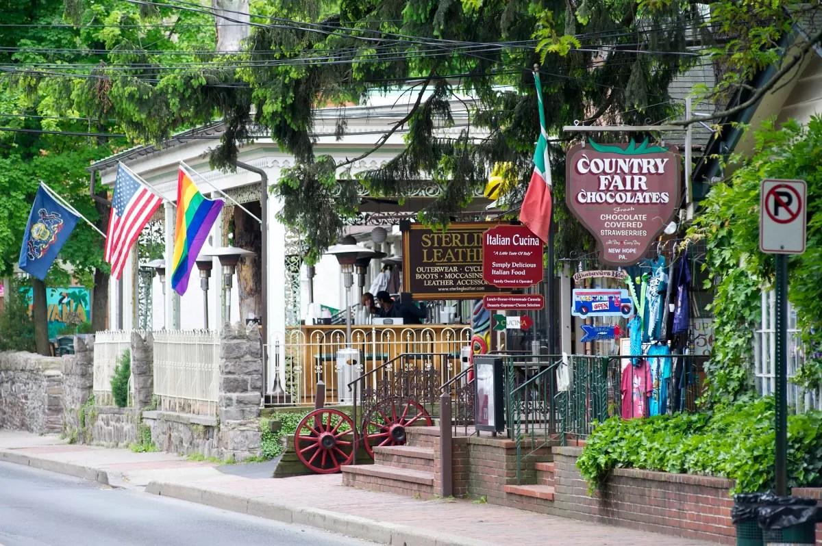 New Hope Bucks County Shopping Dining Lodging LGBT