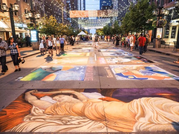 Denver Chalk Art Festival Visit