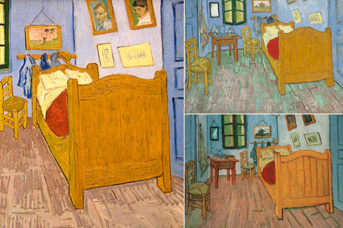 vincent van gogh's bedrooms at the art institute of chicago: 6