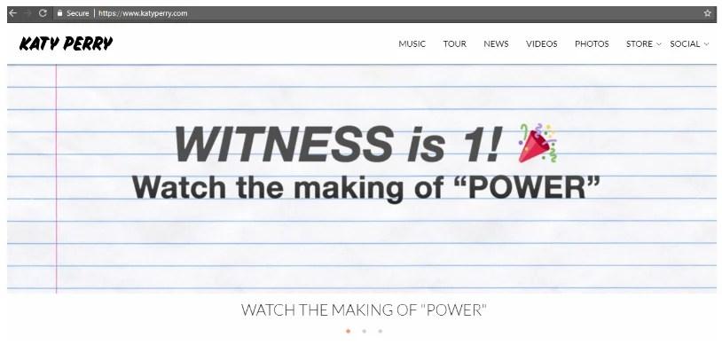 Katy Perry on WordPress